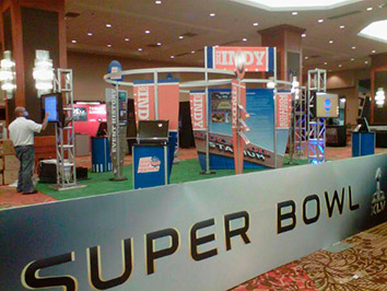 super bowl booth