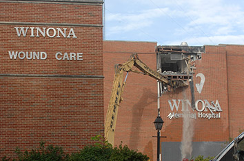 Winona Hospital demolition