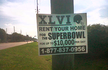 Spiffed up super bowl rental photo