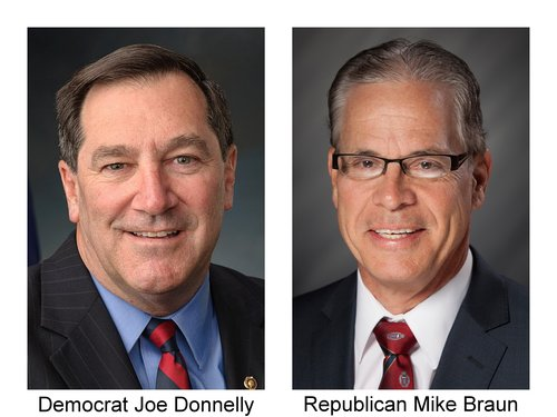 Joe Donnelly and Mike Braun - with names