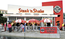 The newly redesigned Steak n Shake in Georgia.