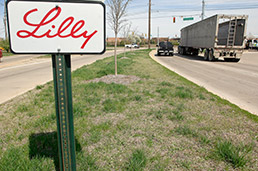 Proceeds from a refinancing of bonds that paid for road improvements to Lilly's Technology Center on Harding Street, above, will provide a chunk of the funding for North of South.