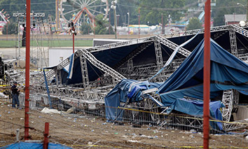 AP Fair stage collapse