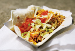 State Fair food: Pulled Pork Taco