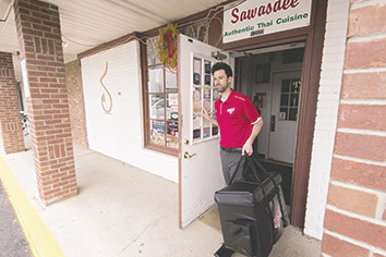 Services proliferate that provide to-your-door restaurant delivery