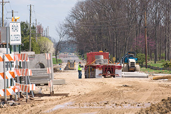 Timelines for construction projects along I-69 overlap